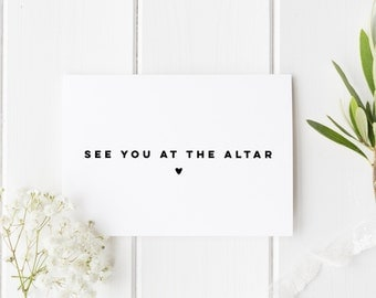 See You At The Altar, Simple Wedding Card, Groom Wedding Day Card, Bride Wedding Day Card, Card For Groom Wedding, Card For Bride Wedding