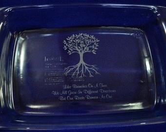 Gift For Mom ~ Mother's Day Gift ~ Family Gift ~ Family Tree Gift ~ Custom Baking Pan ~ Engraved Gifts ~ Wedding Gift ~ Custom Gifts ~