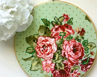 Floral Embroidery Hoop Art>OOAK>Gift For Her>Gallery Wall>Floral Wall Art>Flower Embroidery>Handstitched Art>Embroidery Designs>Gift Idea