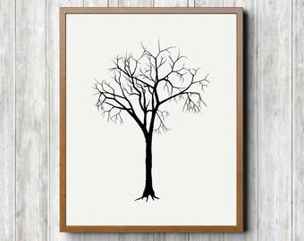 Winter Tree Printable 8 x 10