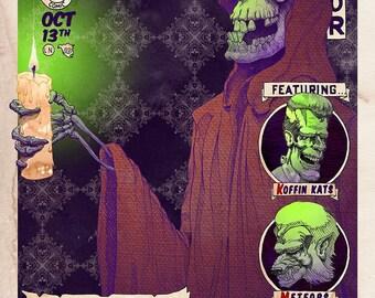 The Misfits - Horror Punk Gig Poster Print by Award winning Artist Brady Stoehr