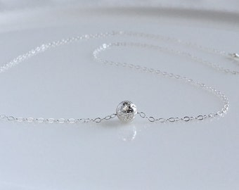 Dainty Sterling Silver Choker Necklace, Silver Layering Necklace, Adjustable,  Delicate Silver Choker, Simple Silver Choker, Bridesmaid Gift