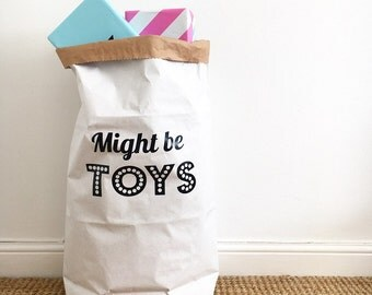 Might be Toys White or Brown Strong Storage Bag/Sack 55x85cm/50x76cm