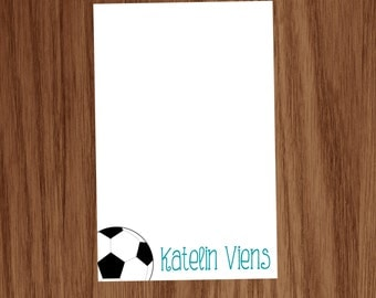 Soccer Notepad Gift for Kids Girls Boys Coaches - Personalized Kids Personal Sports Soccer Stationery Stationary Notepads