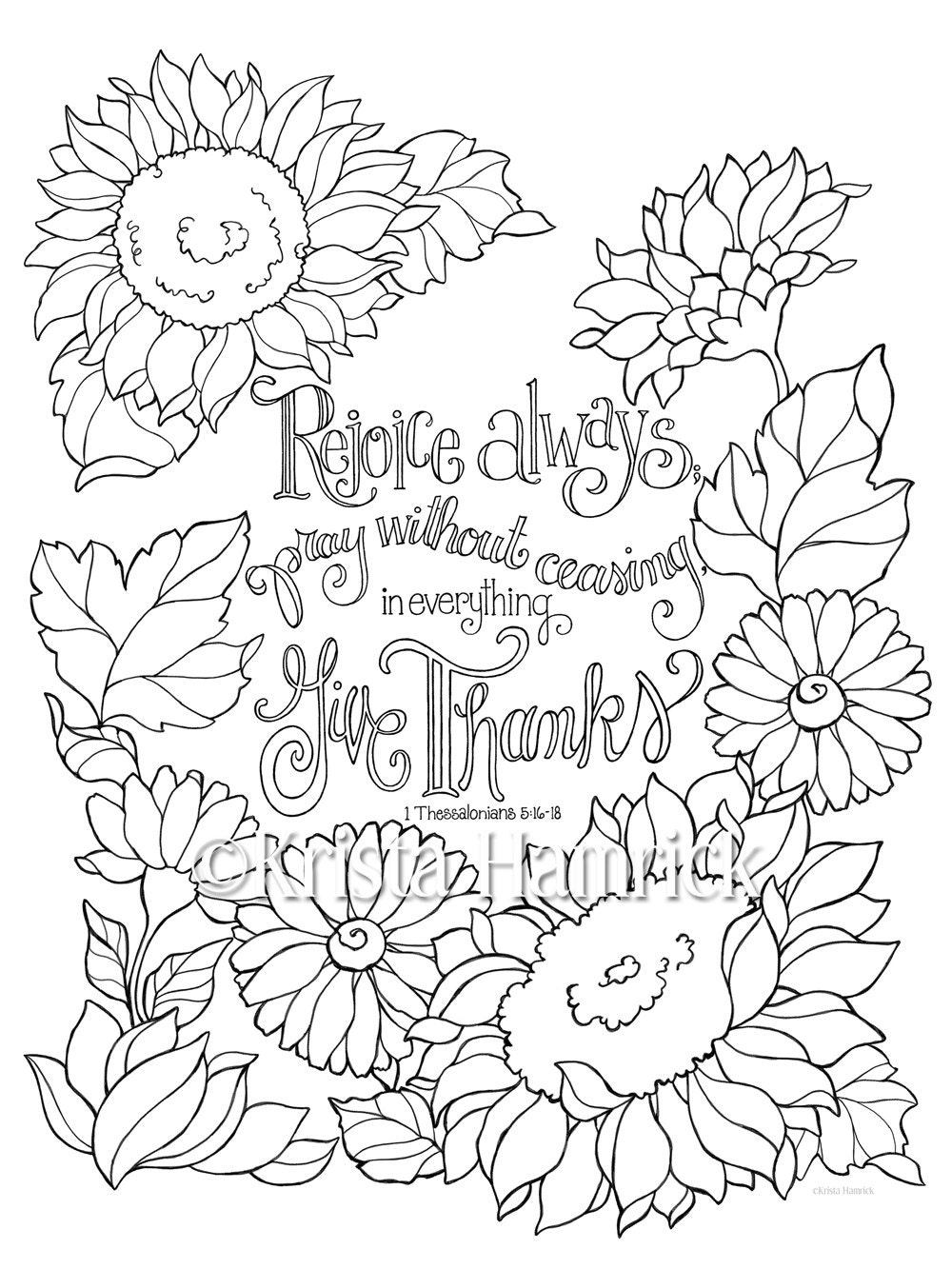 Rejoice Always coloring page in