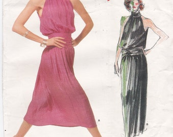 Vogue Sewing Pattern 1689 Sleeveless Dress By Designer Carol Horn Vintage Vogue Individualist Pattern Evening Dress Size 16 Bust 38