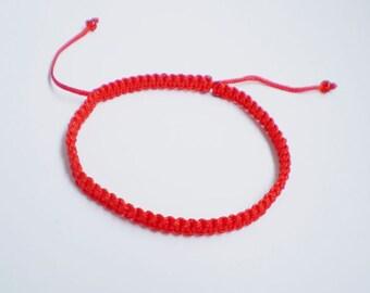 Red bracelet, Red String Bracelet, Red String Kabbalah Bracelet, buddhist bracelet, yoga bracelet, red amulet, amulet, braided bracelet