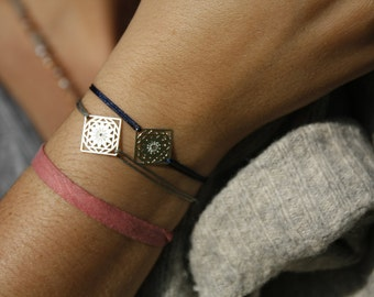 Square Bracelet, birthday gift, christmas gift, with color bangles