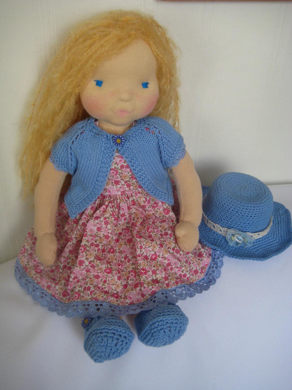 Waldorf doll 16 waldorf fabric doll steiner doll - Material waldorf ...