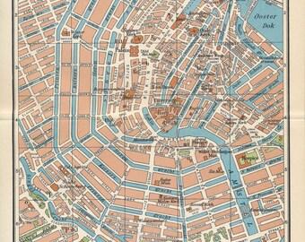 1961 Amsterdam Netherlands (Holland) Vintage Map