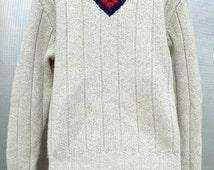 Ralph Lauren White Soft Mesh Men Sweaters