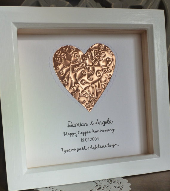 7th Wedding Anniversary Gift Copper