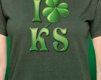 I Shamrock Kansas Patrick's Day T-Shirt