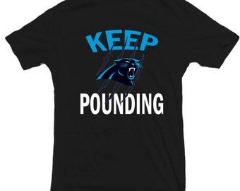 Carolina Panthers T shirt Keep Pounding Cam Newton Dab on em north carolina super bowl champions 2016 2017