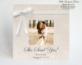 engagement gift to couple picture frame personalized she said yes gift ideas present to him her bride friend customized wedding frames