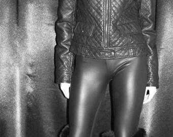 Black Real Fur Rabbit fur warmers  leg boot warmers