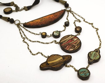 Solar System Necklace - Handmade & Eco-friendly