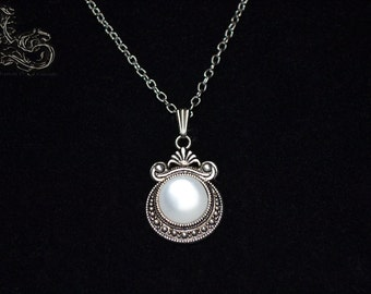 """Necklace """"Galactys"""" - white version"""