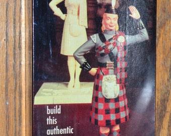 1957 Aurora 420-98 Scotland Scotch Lassie Guys & Gals Model Kit SEALED in Box