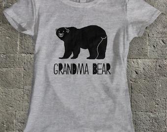 Grandma Bear Tshirt , Grandma Shirt, Grandma Family Gift , Nana T shirt , Granny shirt ,  Grannie tshirt , New Grandma Gift .