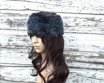 WIDE HEADBAND, Winter Headband, Womens Headwrap, Hand KNIT Headband, Wool Headband