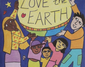Love the Earth 24 x 18 Earth Day poster/backdrop