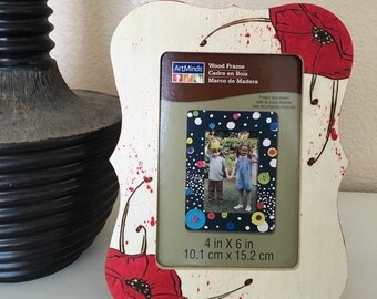 Red Poppy Flower 4x6 Picture Frame