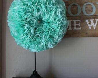 "Custom Colored Coffee Filter Wreath - 20"""