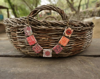 Autumn necklace, Statement necklace, Orange jewelry, Orange necklace, Yellow necklace, Fall jewelry, Autumn jewelry, Yellow jewelry, Fall