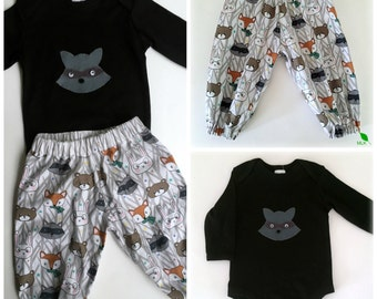 Baby Boys outfit/set - pants & applique top - Avail in 0000, 000,00,0