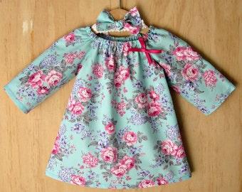 Girls dress sale. Toddler dress clearance. Girls vintage floral dress. Clearance vintage peasant dress. Girls rose print dress clearance.