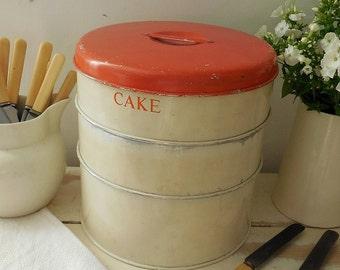 Adorable vintage cake tin, Tala cake tin, triple cake tin, stacking cake tin