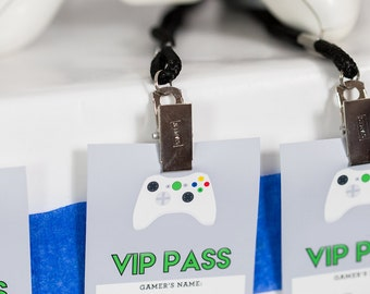 Video Game Party VIP Pass - Printable Video Game VIP Pass by Printable Studio