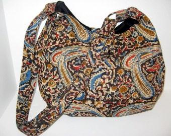 HOBO BAG, HOBO Purse, Women's Handbags, Women's Purses, Cross Body Bags, Hand Printed Organic Fabric, Made To Order