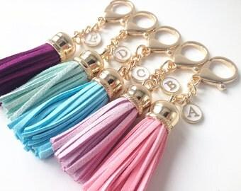 Tassel key chain, gold tassel, personalized tassel,bag tassel,Tassel keychain,bridesmaid gift,bridesmaid gift ideas