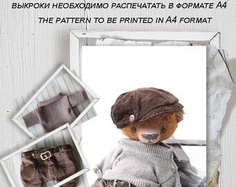 Pattern Teddy Bears  Den 16cm (6.2in) + pattern pants and sweaters