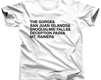 Washington Clothing - Pacific Northwest Shirt - Washington State - Washington Tshirt - Washington Gift - San Juan Islands - Deception Pass