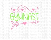 Gymnast SVG, DXF, EPS, png Files for Cutting Machines Cameo or Cricut // cute girly svg // gymnastic svg // gymnast svg