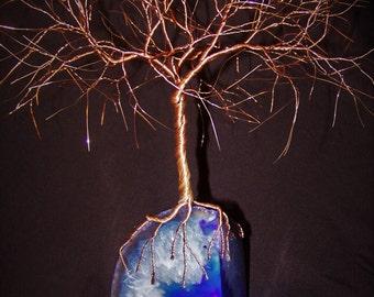 Bare Copper Wire Tree Sculpture
