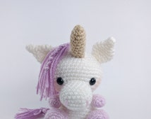 PATTERN: Crochet unicorn pattern - amigurumi unicorn pattern - stuffed toy animal tutorial - PDF crochet pattern