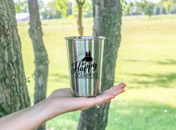 Happy Camper | Stainless Steel Tumbler | 18 oz. | Outdoor Drinkware