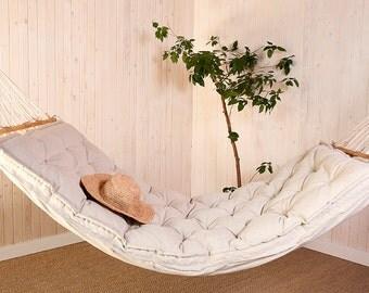 Wool-Filled Hammock Cushion / Made to order / Hammock Optional