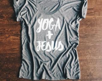 Yoga and Jesus Tee