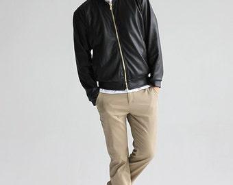 LAST CHANCE SALE / Trek Jogger - tan clean pants streetwear minimal skinny leg trousers canvas fitted office fashion design modern everyday