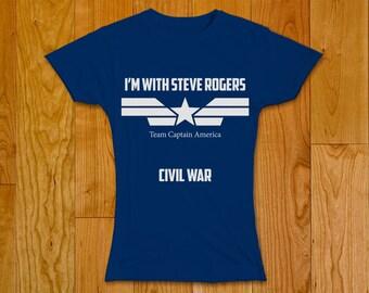Civil War Marvel Women T-shirt - Team Captain America