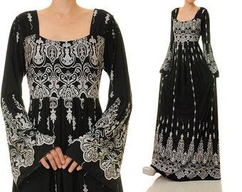Boho maxi dress plus size