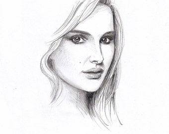 Custom Pencil Portrait Drawing from Photo - Graphite Sketch from Photo - Custom Dawing - Custom Sketch request Art Gift - Black and White
