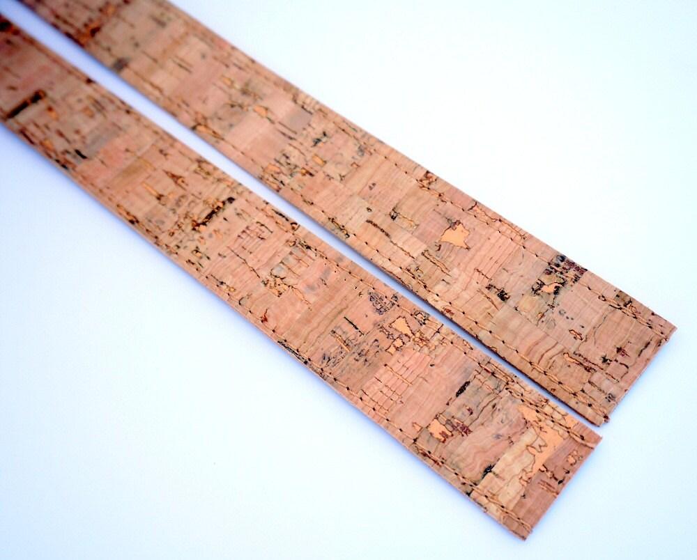 3 cm inches width pair of natural cork straps natural. Black Bedroom Furniture Sets. Home Design Ideas