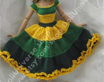"Hand Knitted Dress for Tonner15"" and 16"", 3 colors ."