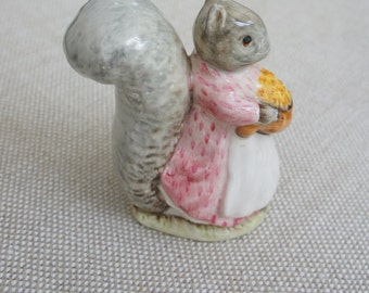 "Beatrix Potter ""Goody Tiptoes"" F. Wayne & Co. LTD, 1961, Beswick, England, Squirrel Figurine"
